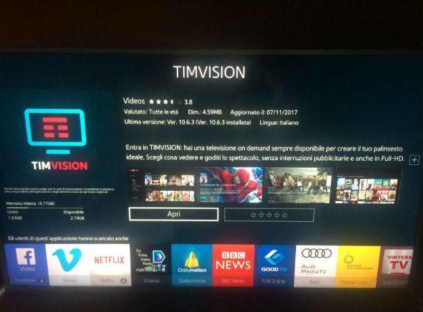 Come mettere Tim Vision sulla Smart TV